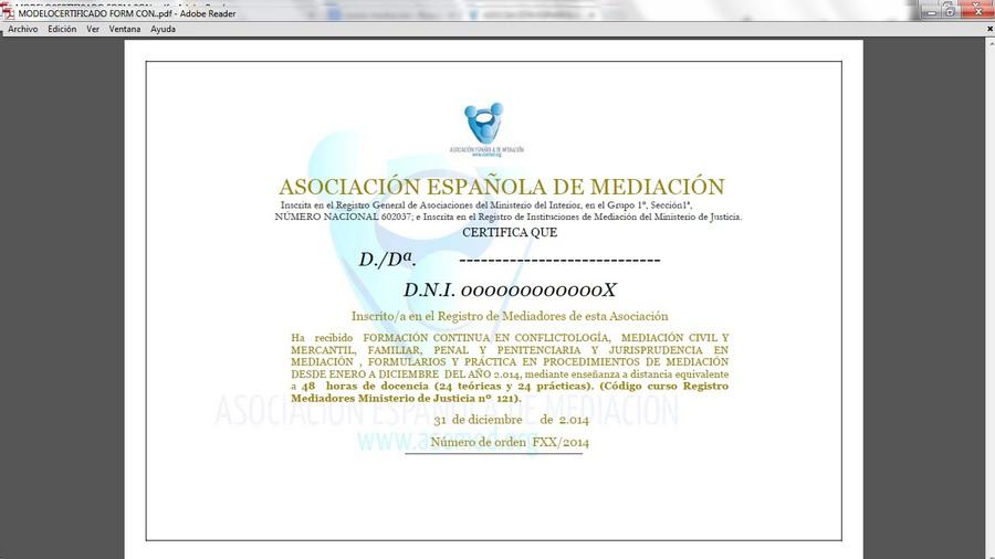 Asociaci n espa ola de mediaci n asemed formaci n for Mediacion penitenciaria